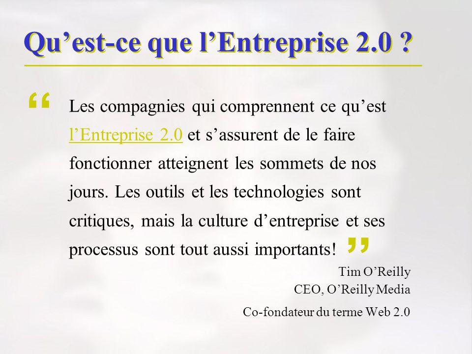 Qu'est-ce que l'Entreprise 2.0
