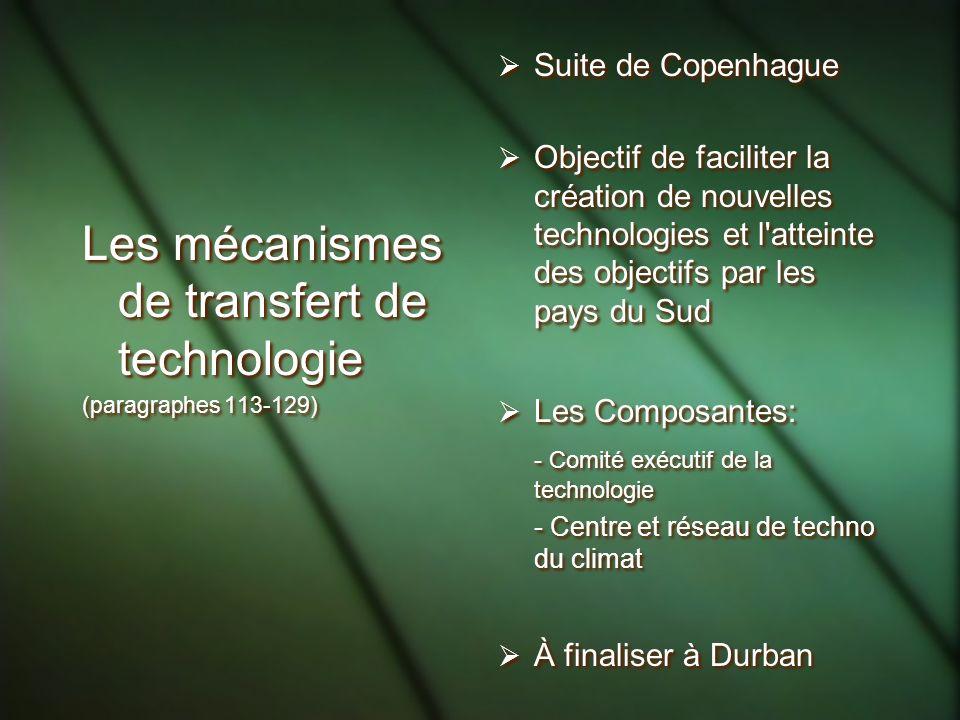 Les mécanismes de transfert de technologie