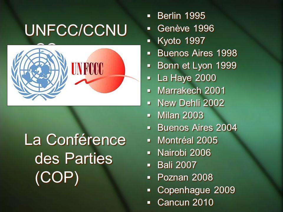 La Conférence des Parties (COP)