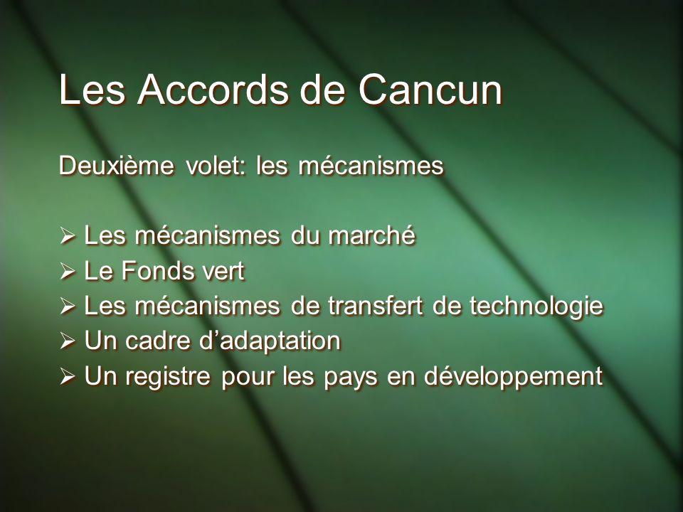 Les Accords de Cancun Deuxième volet: les mécanismes