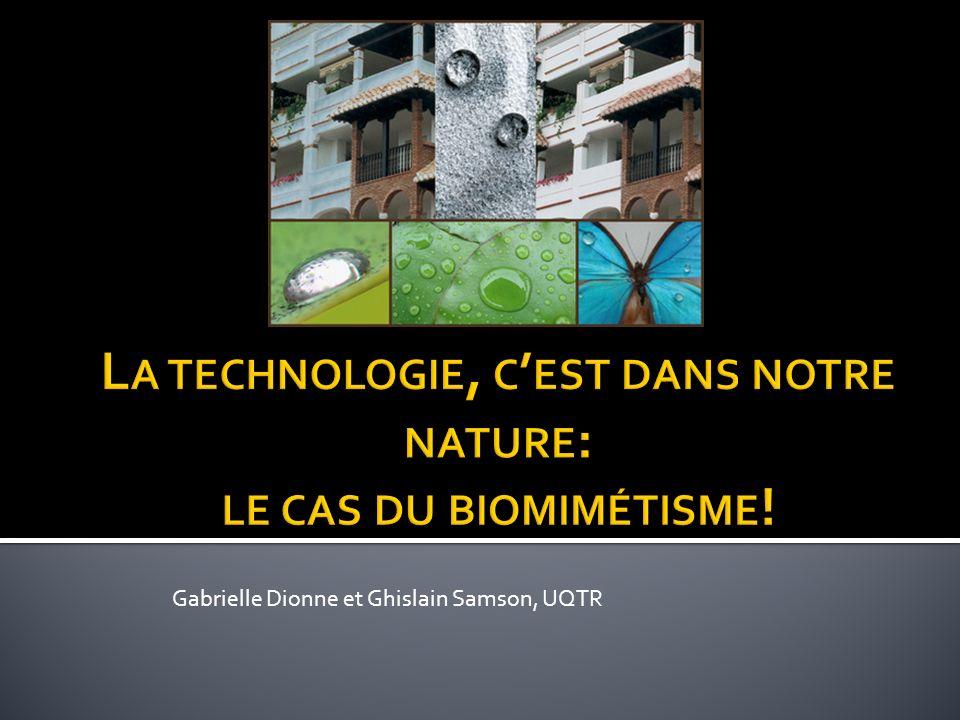 La technologie, c'est dans notre nature: le cas du biomimétisme!