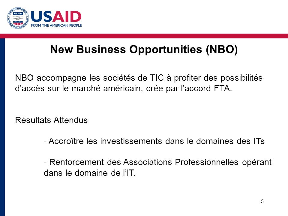 New Business Opportunities (NBO)