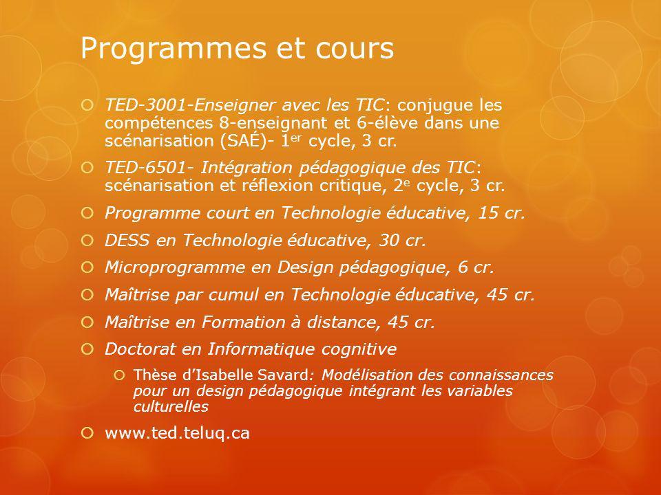 Programmes et cours