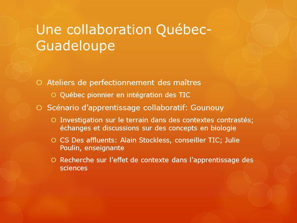 Une collaboration Québec-Guadeloupe