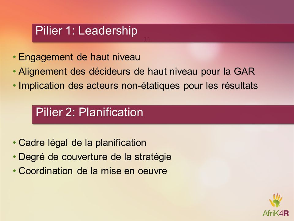 Pilier 2: Planification