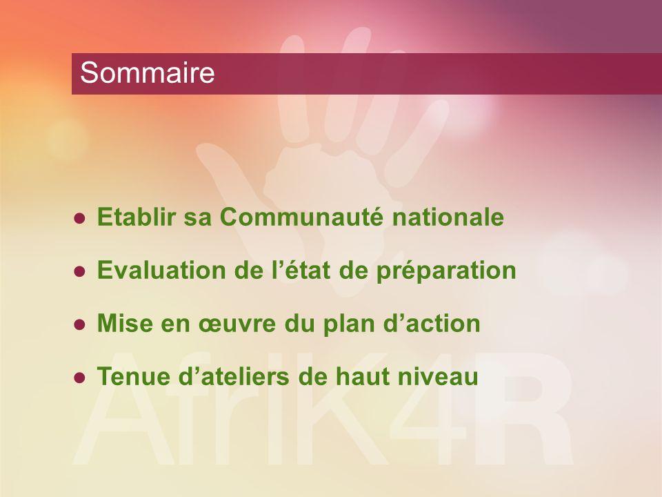 Sommaire Etablir sa Communauté nationale