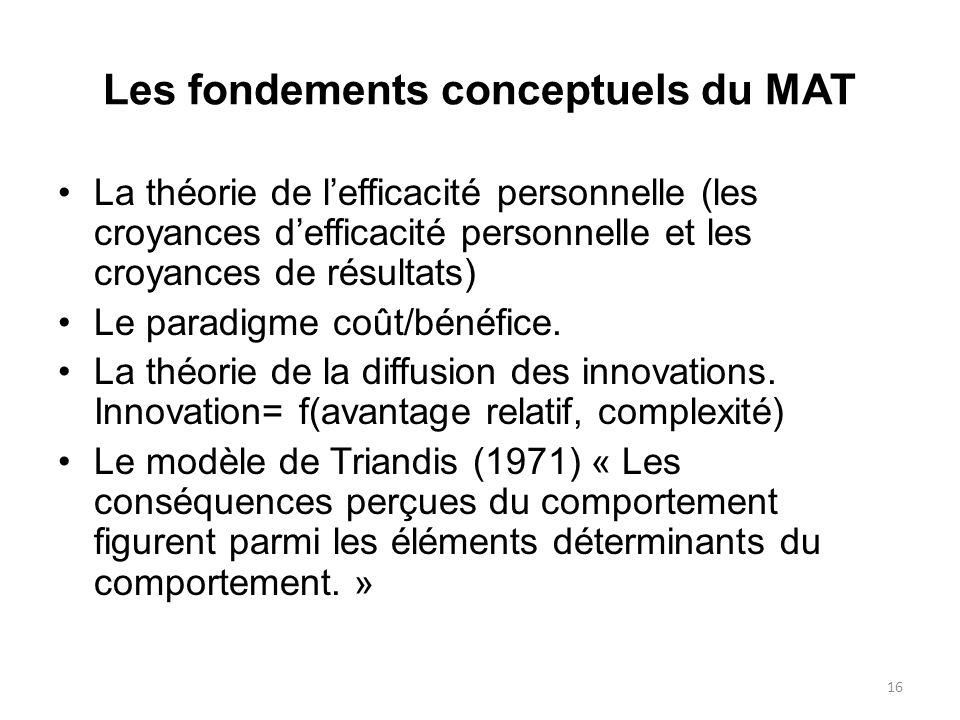 Les fondements conceptuels du MAT