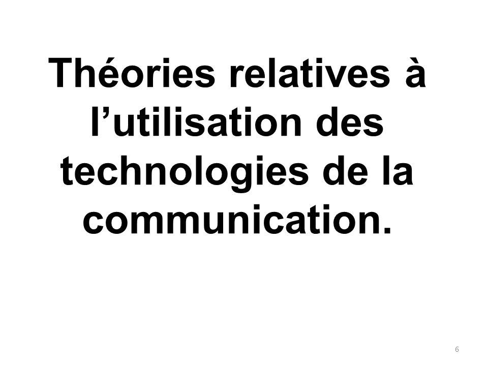 Théories relatives à l'utilisation des technologies de la communication.