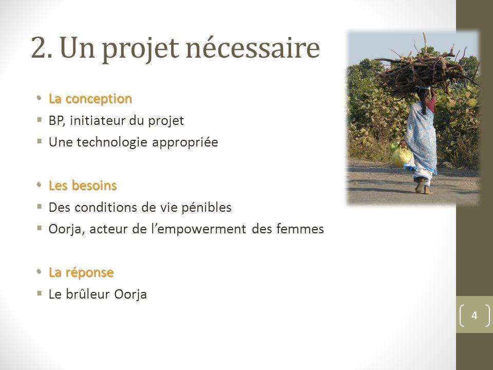 2. Un projet nécessaire La conception BP, initiateur du projet