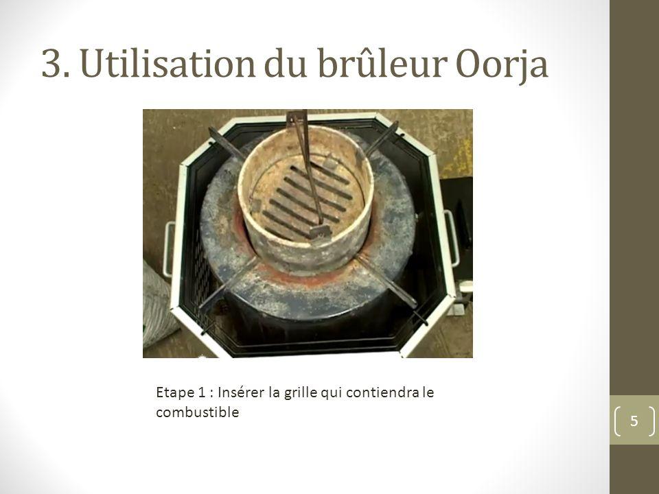 3. Utilisation du brûleur Oorja