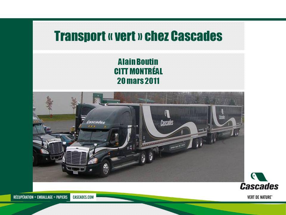 Transport « vert » chez Cascades