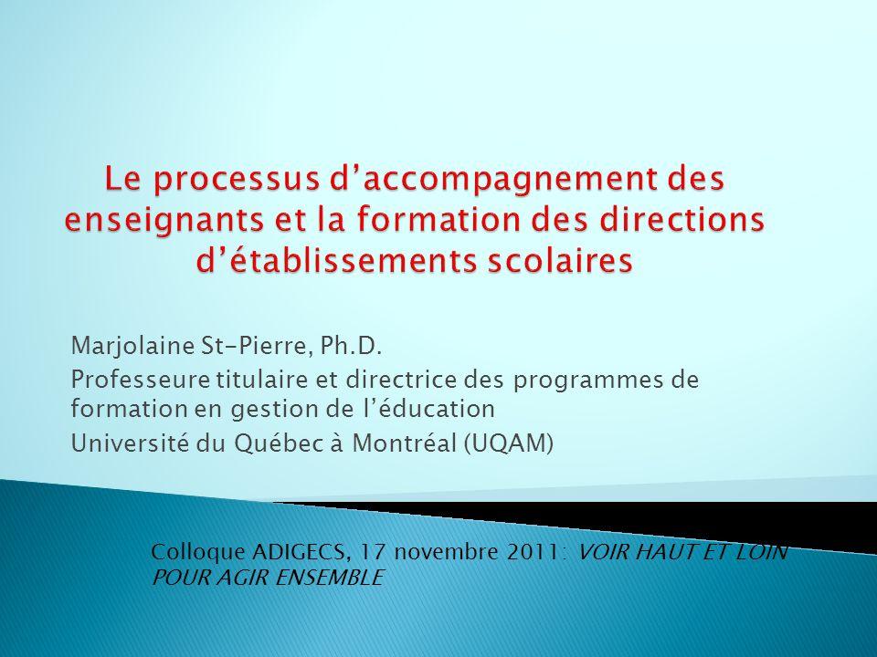 Le processus d'accompagnement des enseignants et la formation des directions d'établissements scolaires