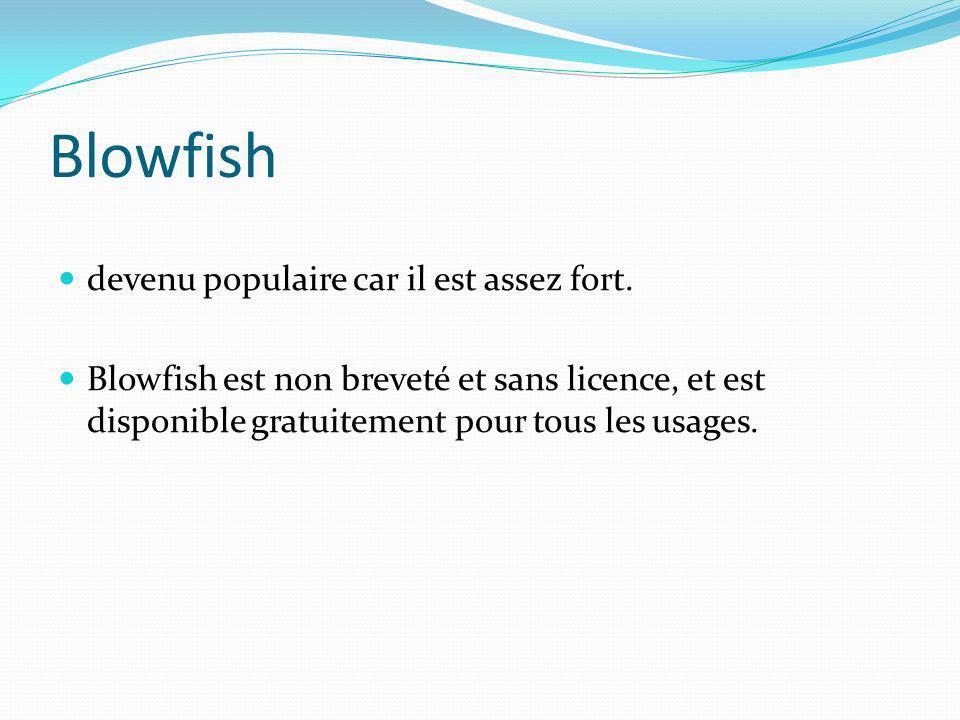 Blowfish devenu populaire car il est assez fort.