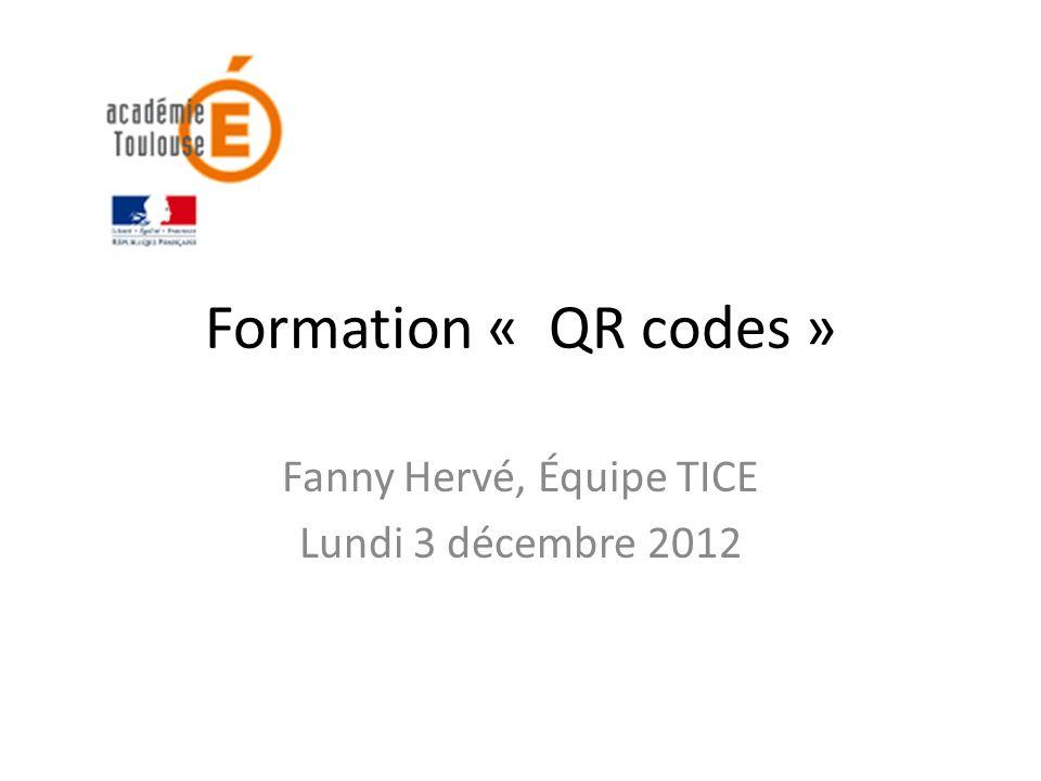 Fanny Hervé, Équipe TICE Lundi 3 décembre 2012