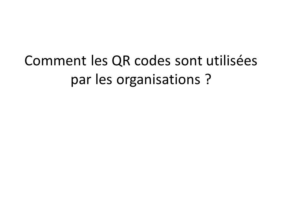 Comment les QR codes sont utilisées par les organisations