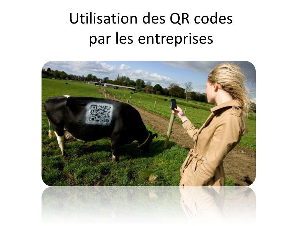 Utilisation des QR codes par les entreprises