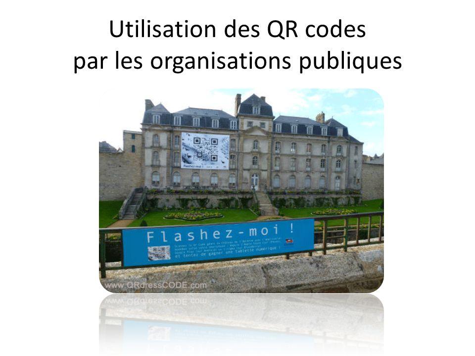 Utilisation des QR codes par les organisations publiques