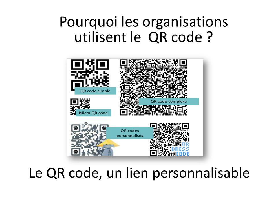 Le QR code, un lien personnalisable