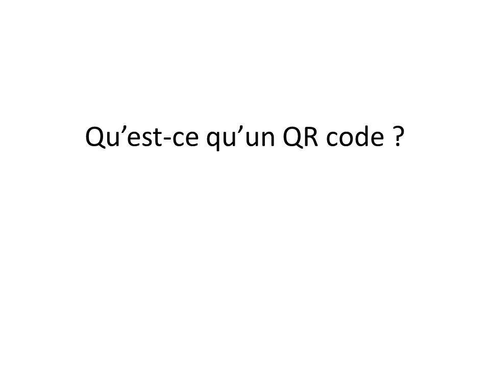 Qu'est-ce qu'un QR code