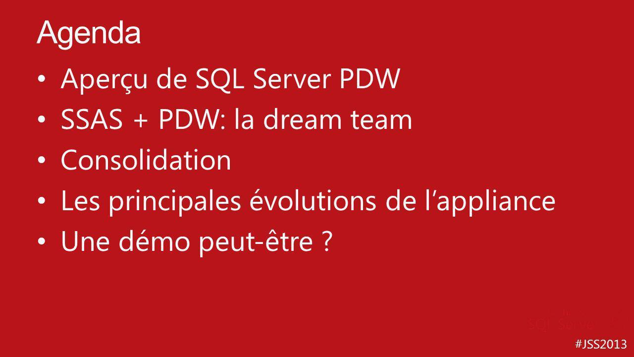Agenda Aperçu de SQL Server PDW SSAS + PDW: la dream team