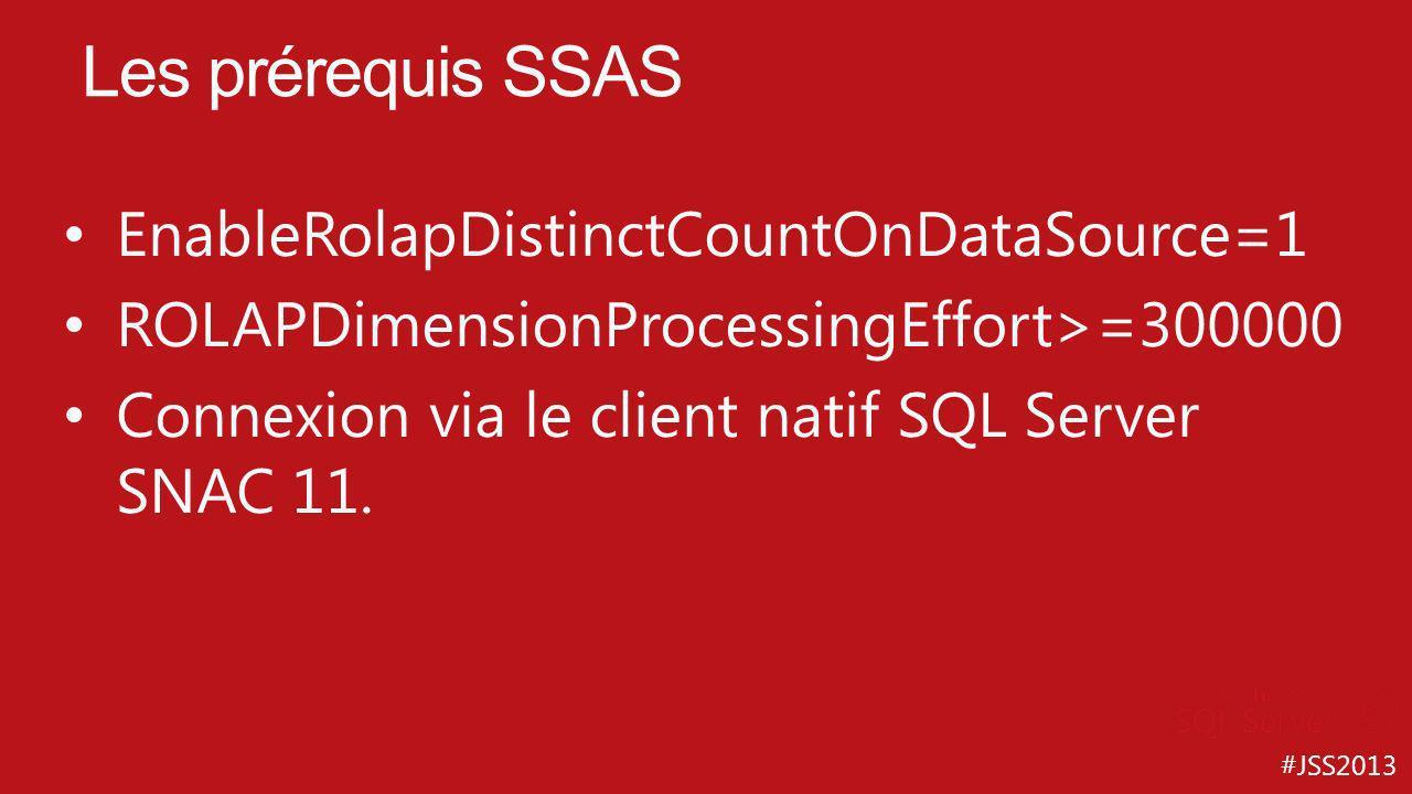 Les prérequis SSAS EnableRolapDistinctCountOnDataSource=1