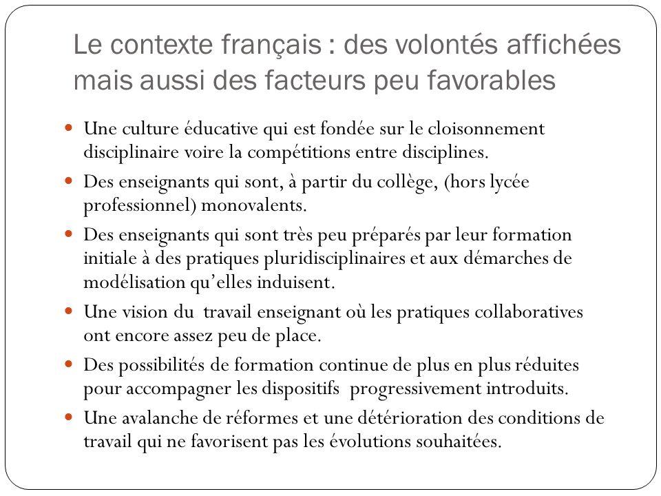 Le contexte français : des volontés affichées mais aussi des facteurs peu favorables