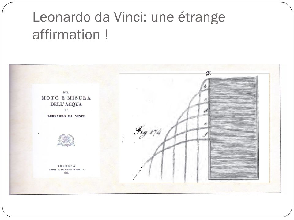 Leonardo da Vinci: une étrange affirmation !