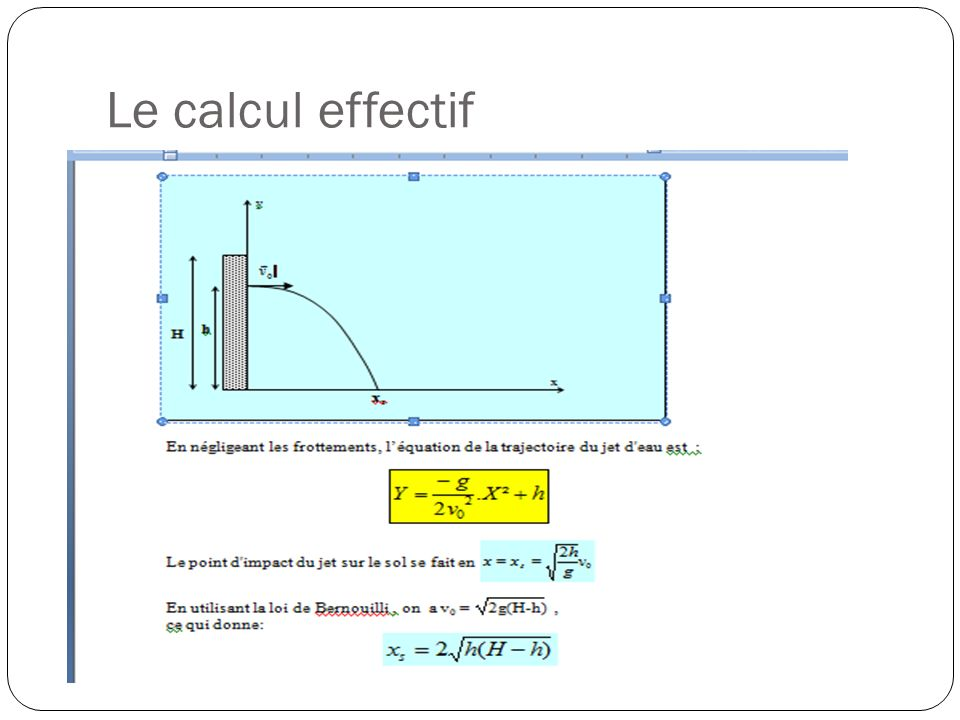 Le calcul effectif