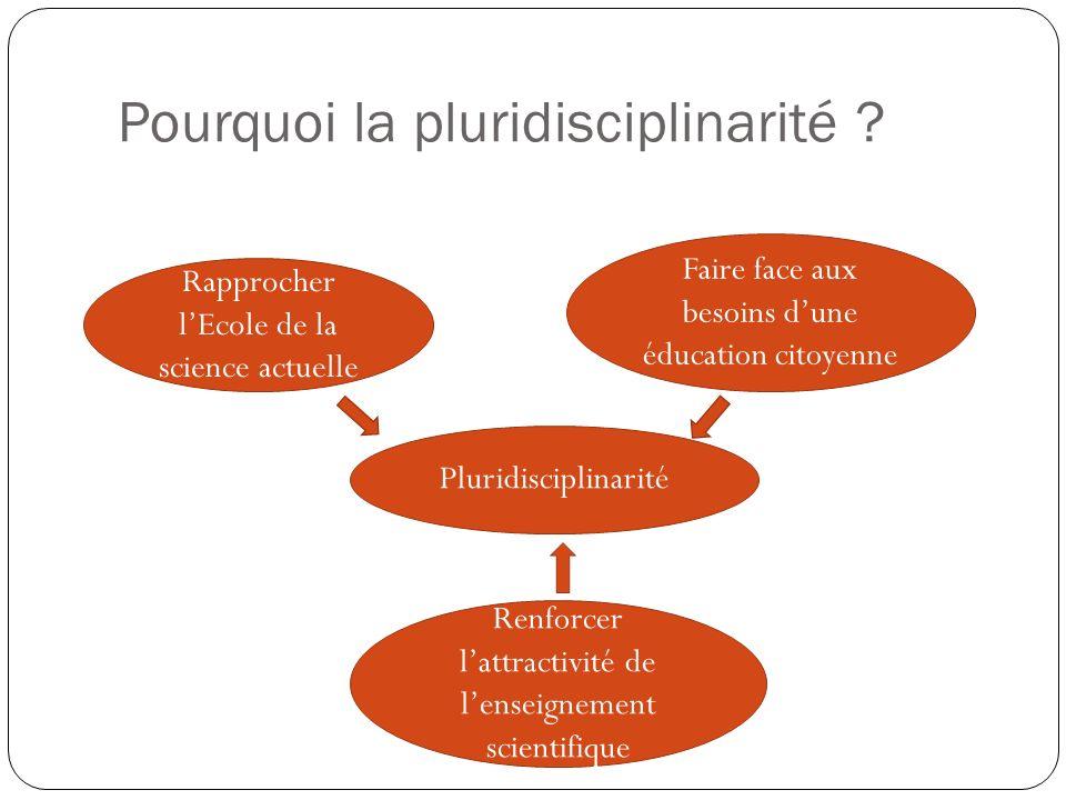 Pourquoi la pluridisciplinarité