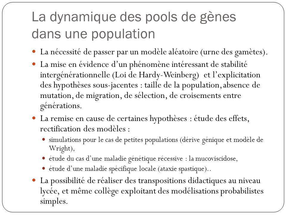 La dynamique des pools de gènes dans une population