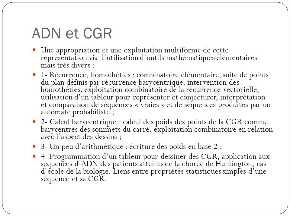 ADN et CGR