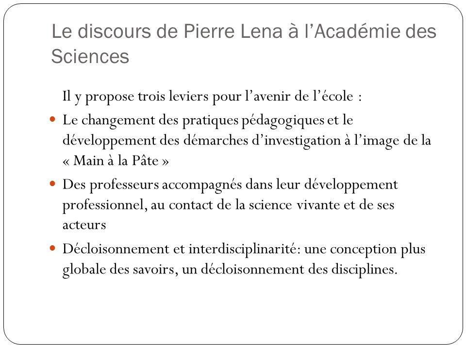 Le discours de Pierre Lena à l'Académie des Sciences