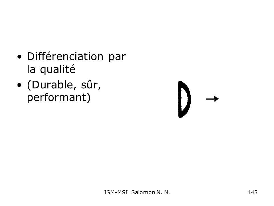 Différenciation par la qualité (Durable, sûr, performant)
