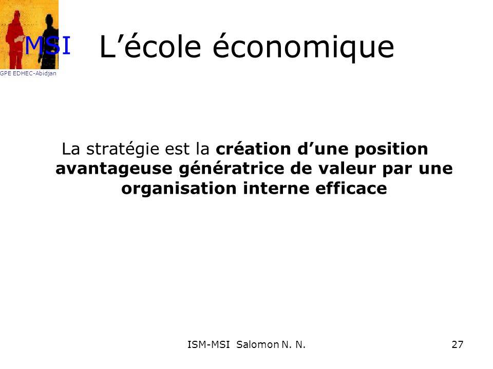 L'école économique MSI