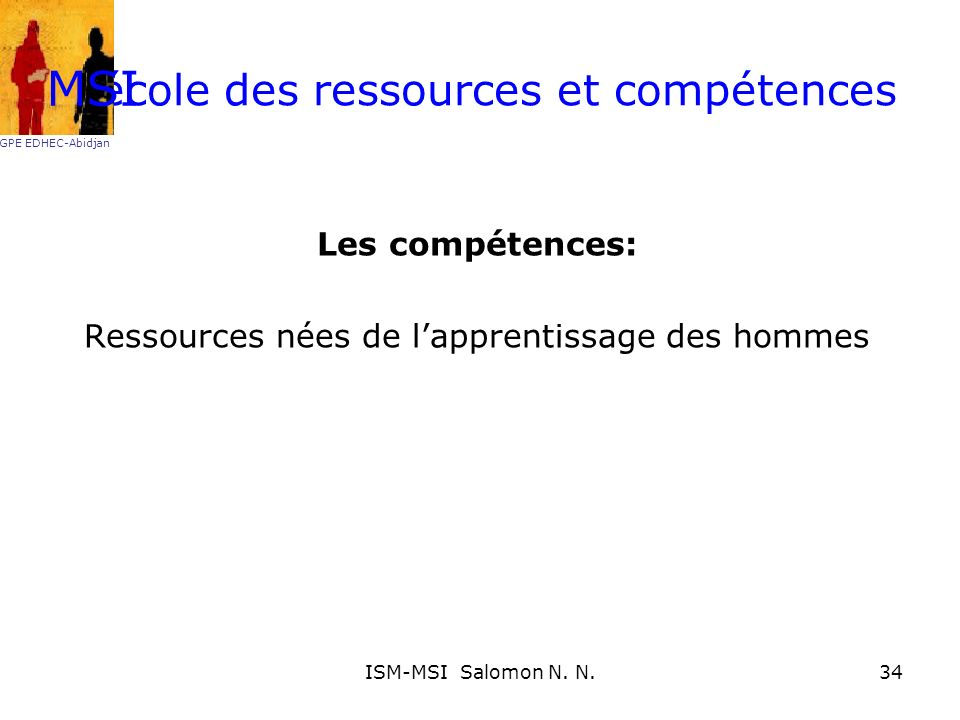 L'école des ressources et compétences