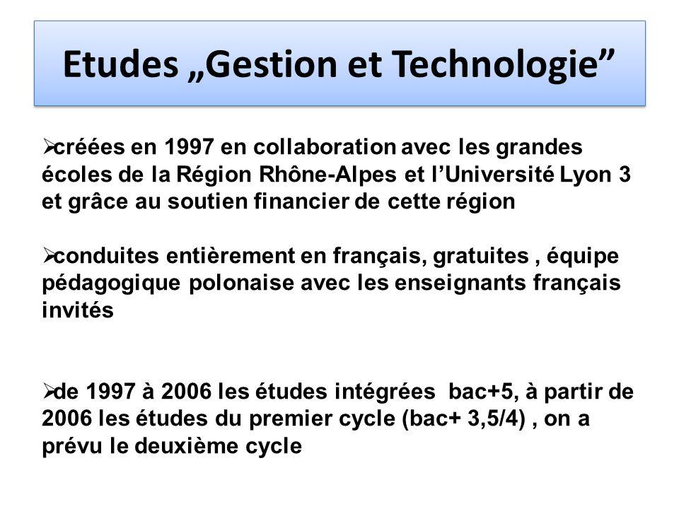 """Etudes """"Gestion et Technologie"""