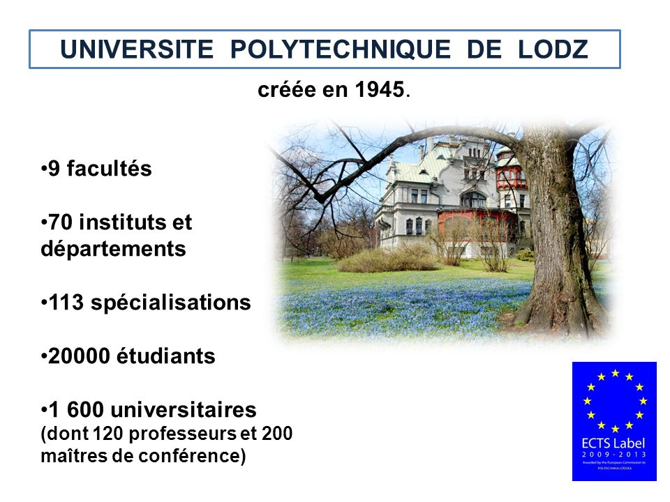 UNIVERSITE POLYTECHNIQUE DE LODZ