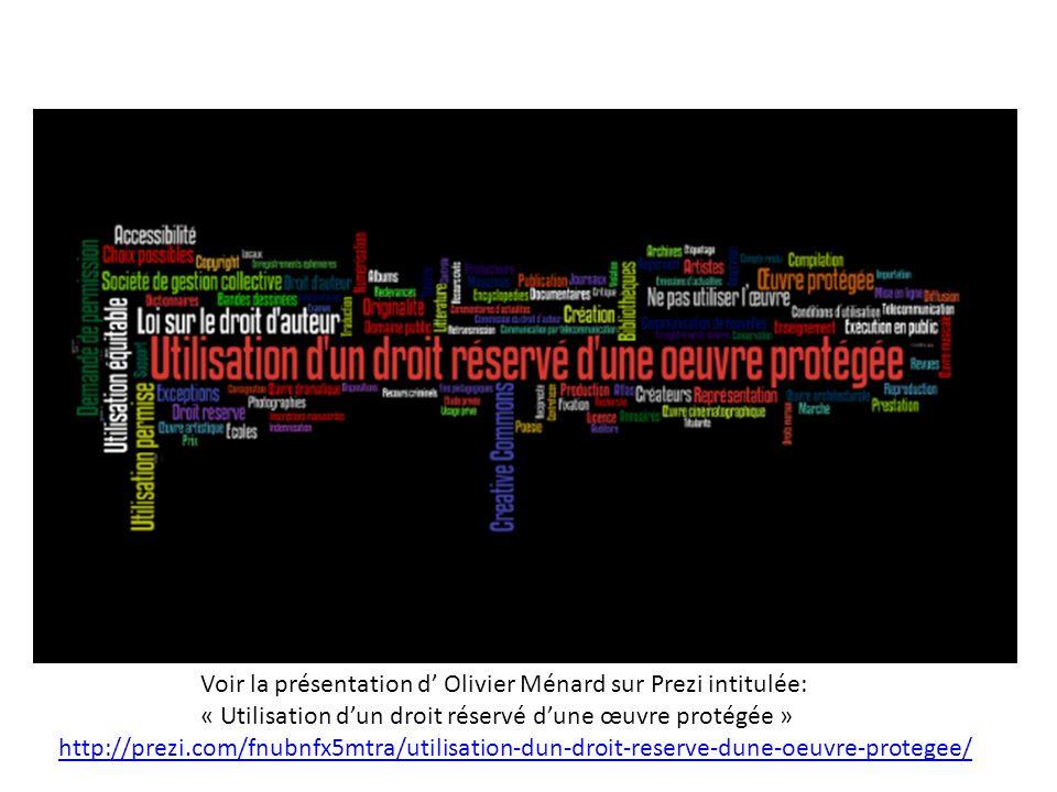 Voir la présentation d' Olivier Ménard sur Prezi intitulée: