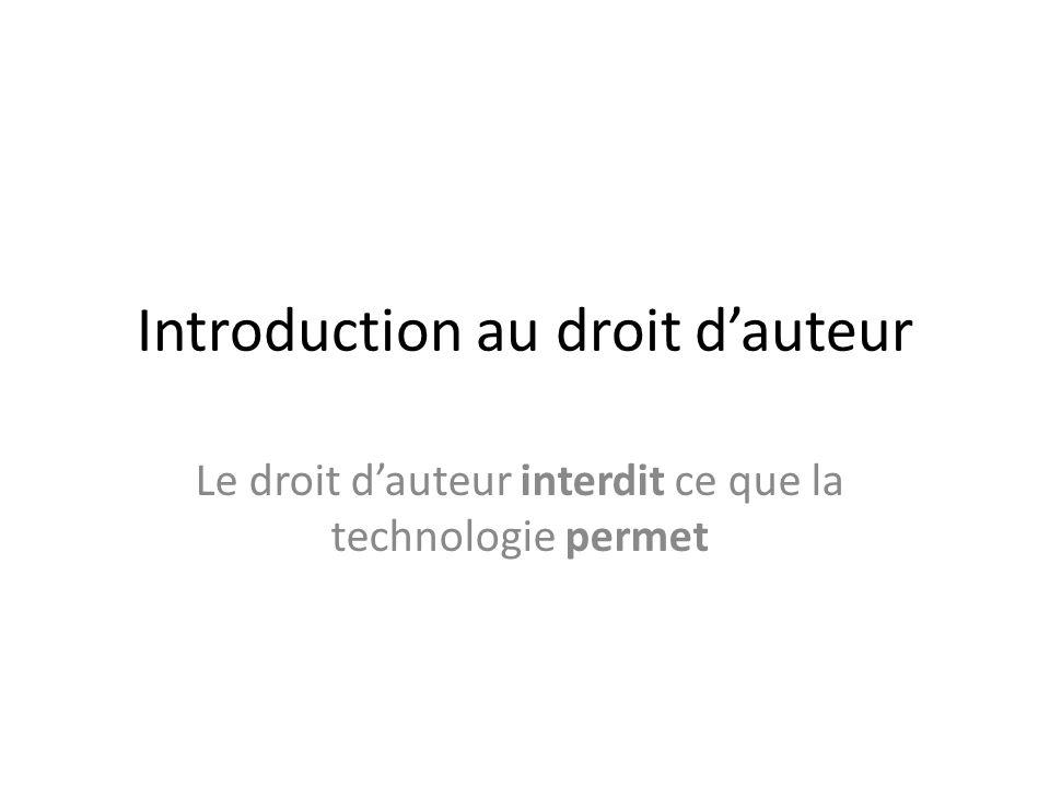 Introduction au droit d'auteur
