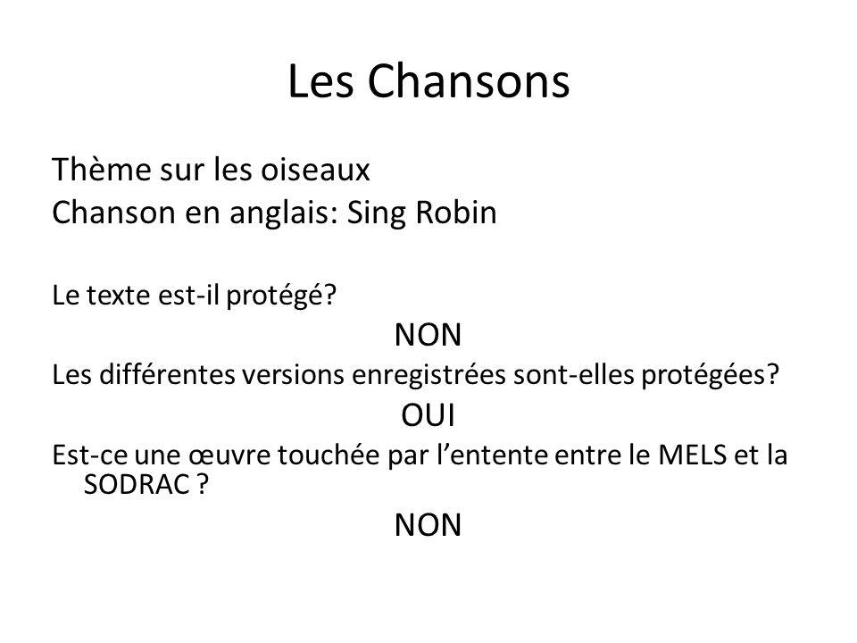 Les Chansons Thème sur les oiseaux Chanson en anglais: Sing Robin NON