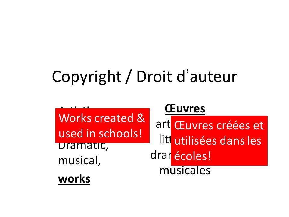 Copyright / Droit d'auteur