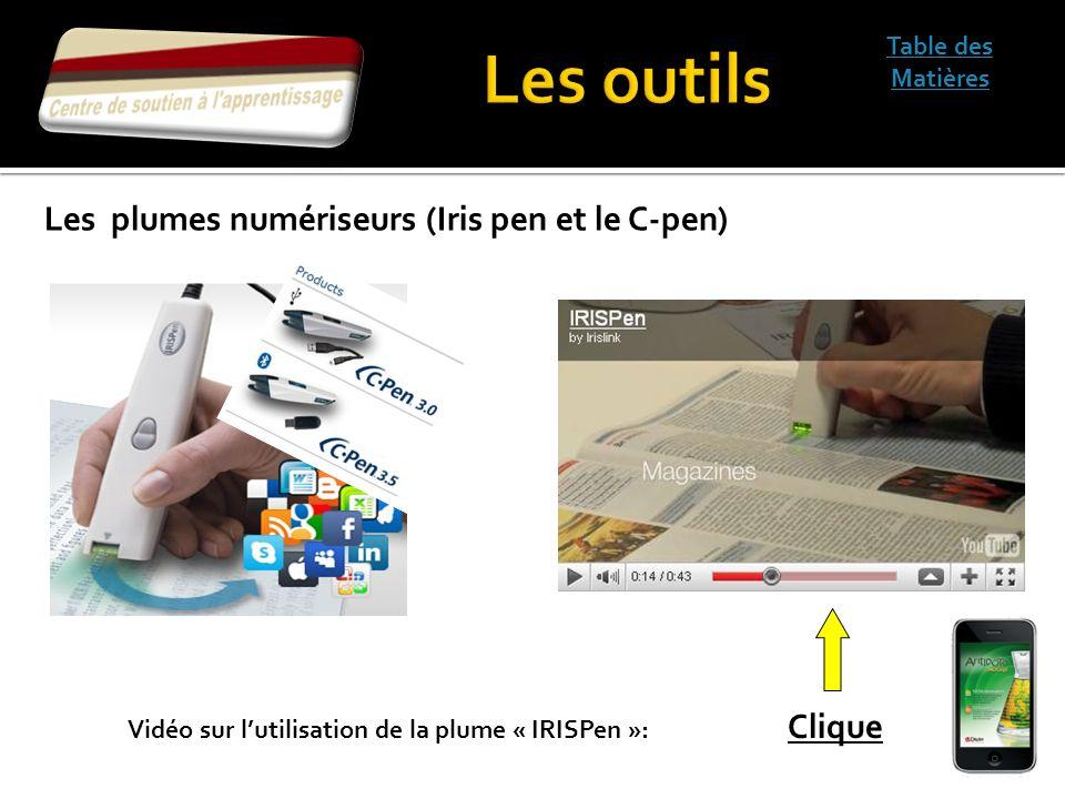 Les outils Les plumes numériseurs (Iris pen et le C-pen)