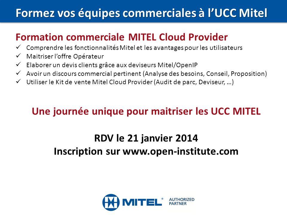 Formez vos équipes commerciales à l'UCC Mitel