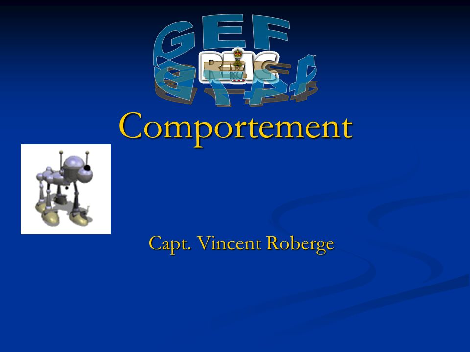 GEF 447B Bring sample sensors Comportement Capt. Vincent Roberge