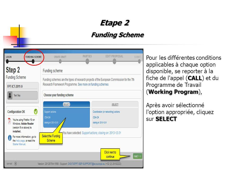 Etape 2 Funding Scheme.