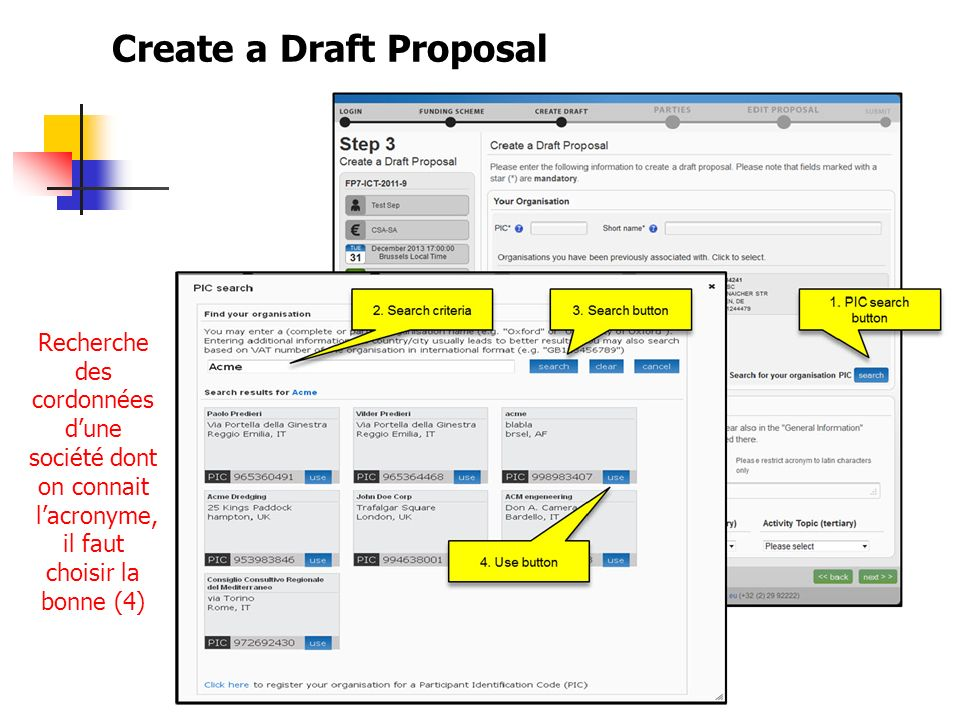Create a Draft Proposal