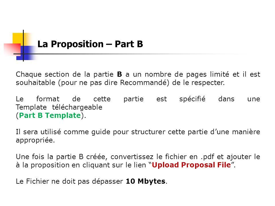 La Proposition – Part B