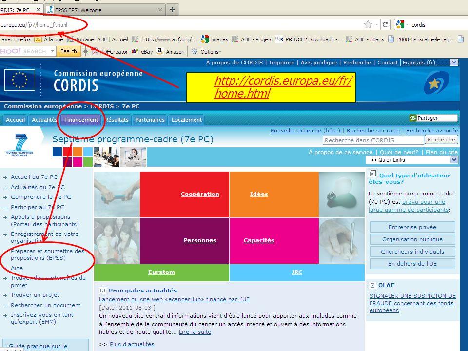 http://cordis.europa.eu/fr/home.html