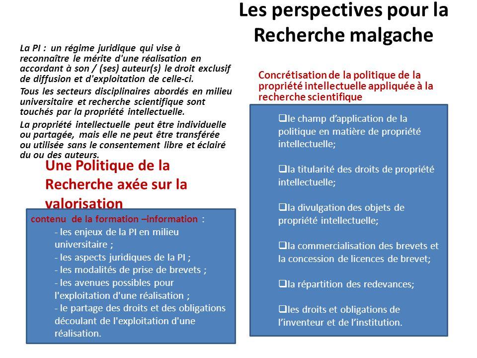 Les perspectives pour la Recherche malgache