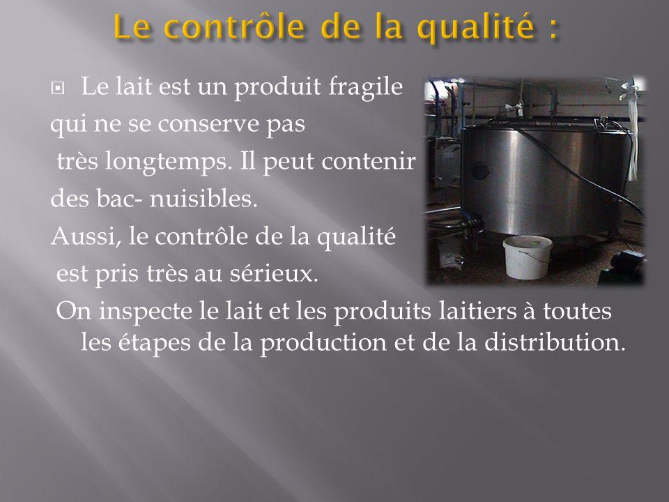 Le contrôle de la qualité :